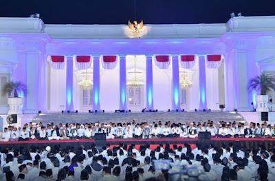 Presiden Jokowi adakan dzikir kebangsaan bersama para ulama di Istana Merdeka