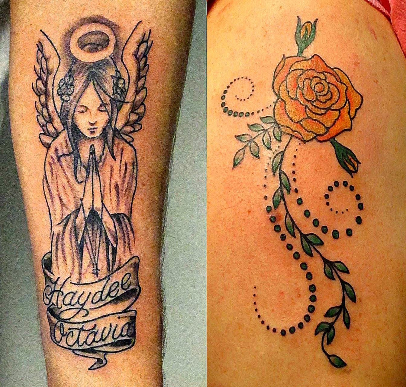 Angel and rose tattoos  Body Art Tattoo and Piercing Plattsburgh NY