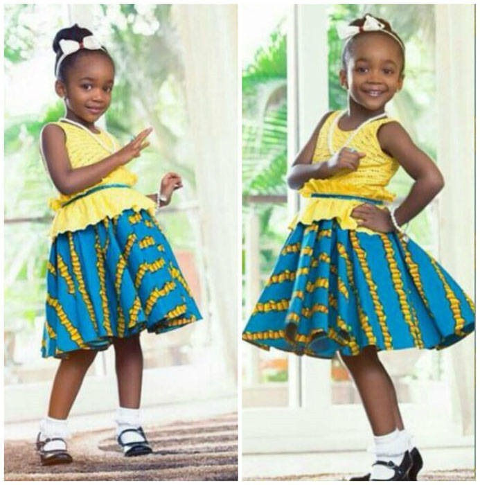 Ankara dresses for children (2)