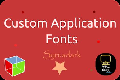 Custom Application Fonts GTK and Pango