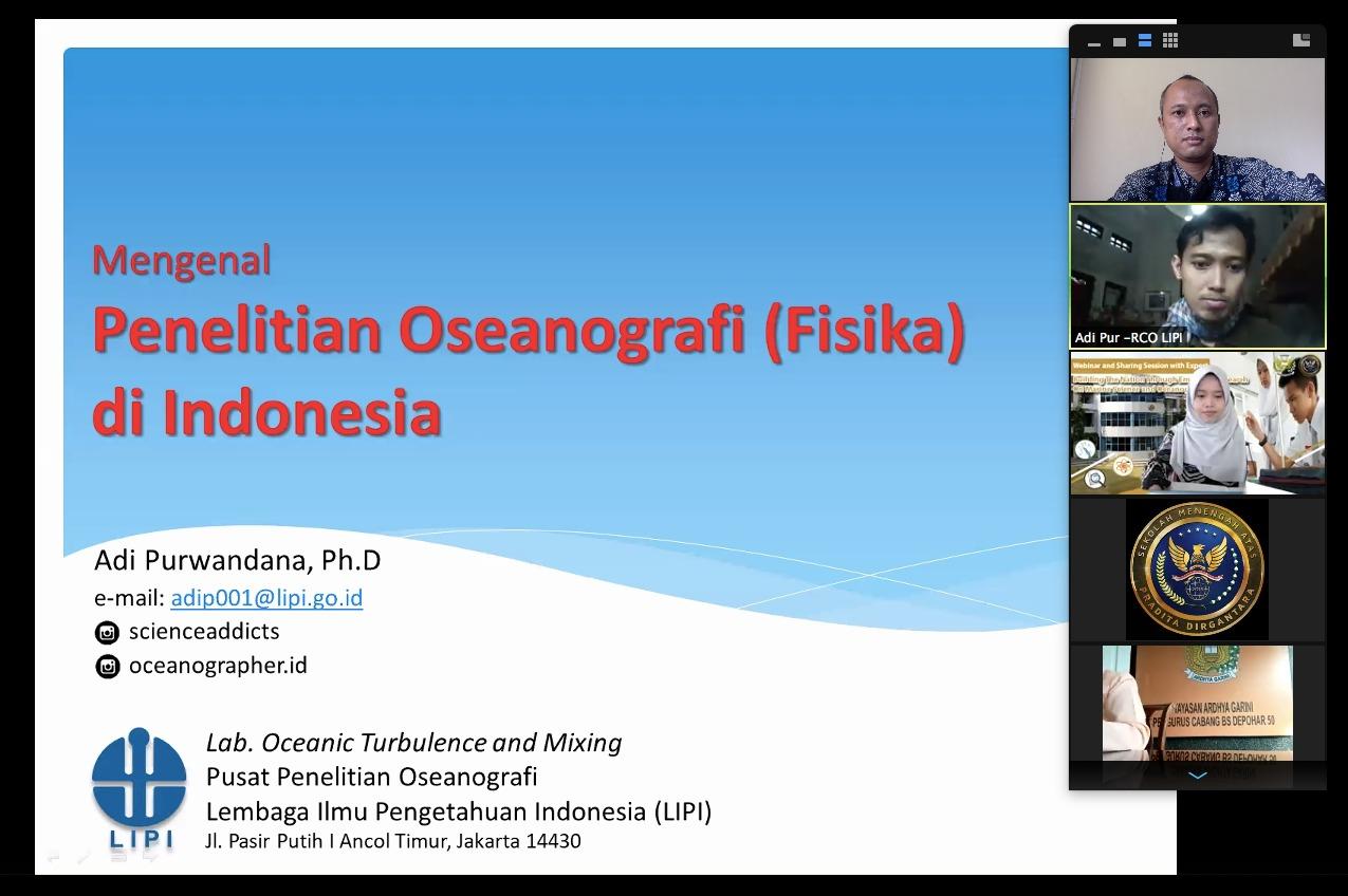Melalui Webinar, SMA Pradita Dirgantara Bahas Penelitian Bidang Kelautan dan Oseanografi