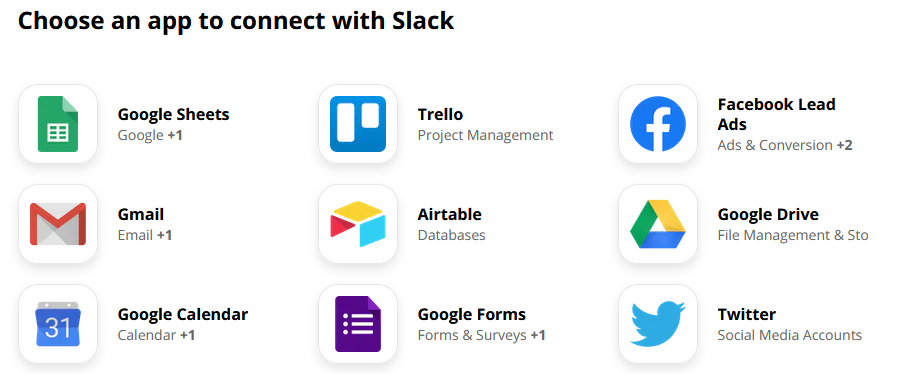 Connect zapier with Slack and automate tasks