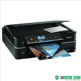 How to reset flashing lights for Epson PX720WD printer
