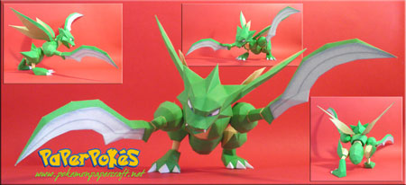 Pokemon Scyther Papercraft