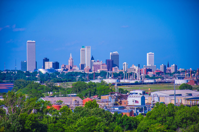 The skyline of Tulsa, Oklahoma. Photo: Donald Carr / Shutterstock