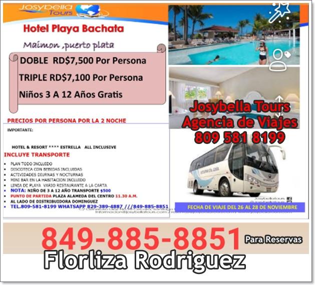 Vámonos de Resort para Hotel Playa Bachata del 26 al 28 Noviembre