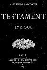Testament, Lyrique (1877,in French)