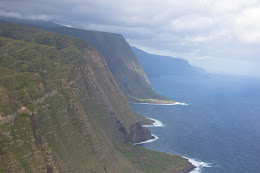 2000ft cliff walls on north shore Molokai