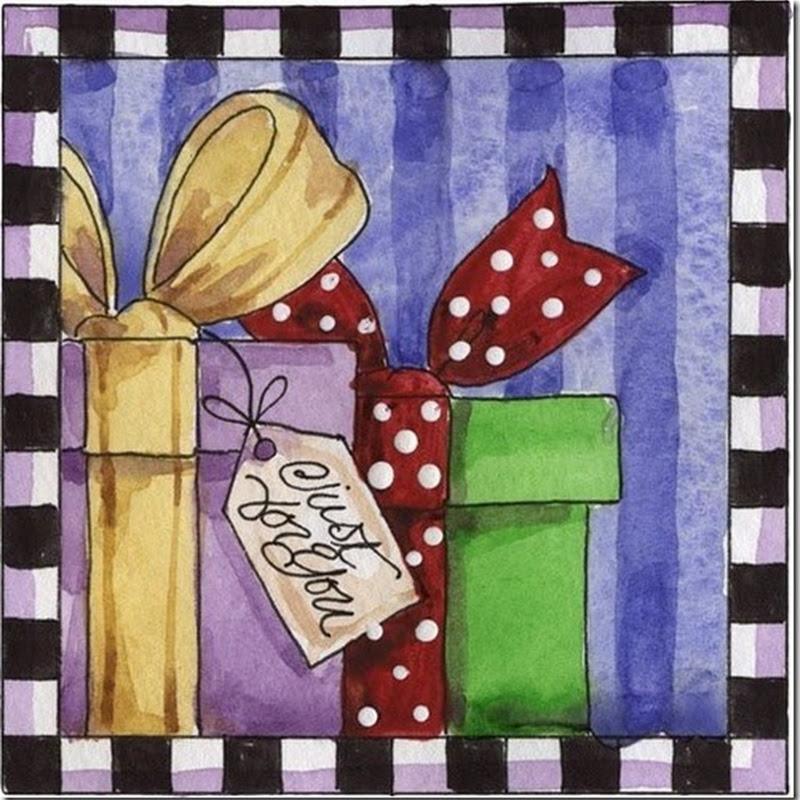 Navidad, tarjetas Navidad con escenas navideñas
