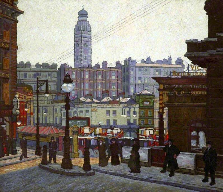 Charles Ginner - Victoria Station, London, the Sunlit Square
