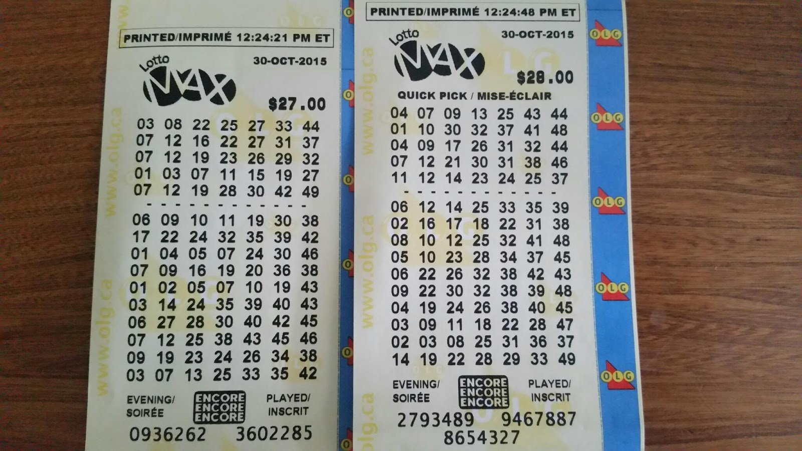 LottoMAX Canadian Lottery Results & Winning Numbers For April 18 2014