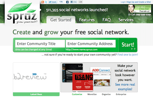 create your own social network free online