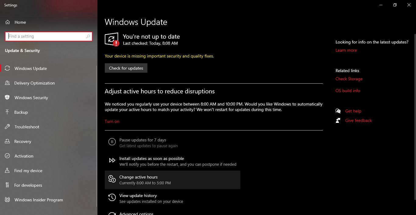 Mengatur Windows Update