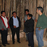 Speaking with Pastor Tomas (back center) and some members of his congregation. Also pictured: Manuel Diaz (extreme left) and Antonio Mendez (second from left.)
