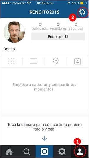 Cerrar sesión en Instagram