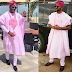 Loud something: Ebuka or Banky W, who rocked the pink Agbada better?