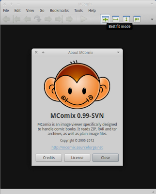 MComix running on Xubuntu