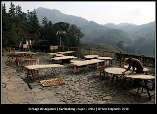 Séchage des légumes | Tianliaokeng - Fujian - Chine | © Yves Traynard - 2010