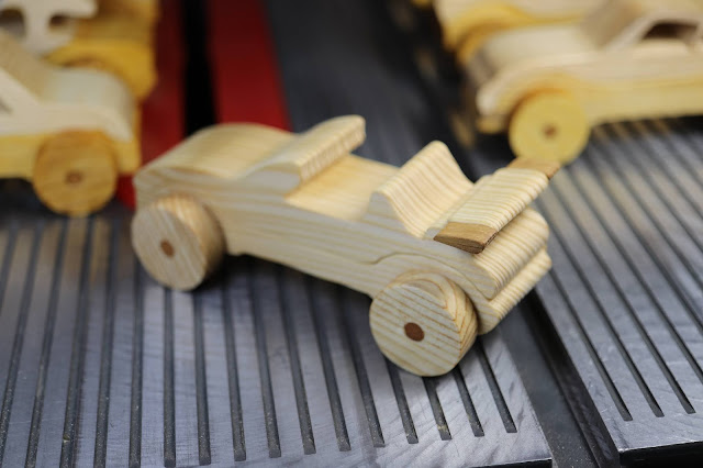 Handmade Wooden Toy Car Convertible From The Speedy Wheels Series