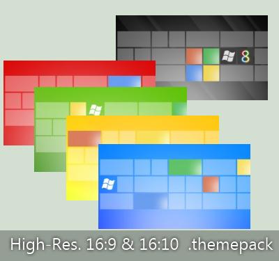 Ultimate Tile Themepack For Windows 8 Look Desktop