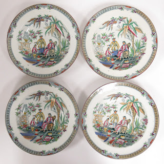 Chinoiserie Soup Bowl Lot