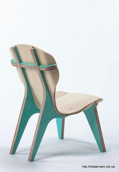 Кресло из фанеры KerFchair, вид сзади