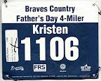 ATC Father's Day 4-miler, my race bib