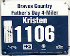 ATC Father's Day 4-miler, my race bib