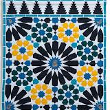 EQUILIBRE MEDITATIF - Jocelyne Cathelineau - Piécé et quilté machine - Reproduction d'une mosaîque du Mirador de Lindaraja - Palais de L'Alhambra de Grenade - Espagne