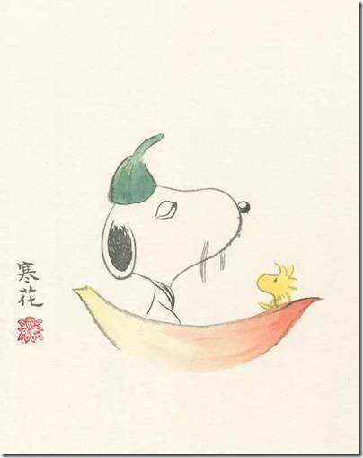 Peanuts X China Chic by froidrosarouge 花生漫畫 中國風 by寒花 Spike 09