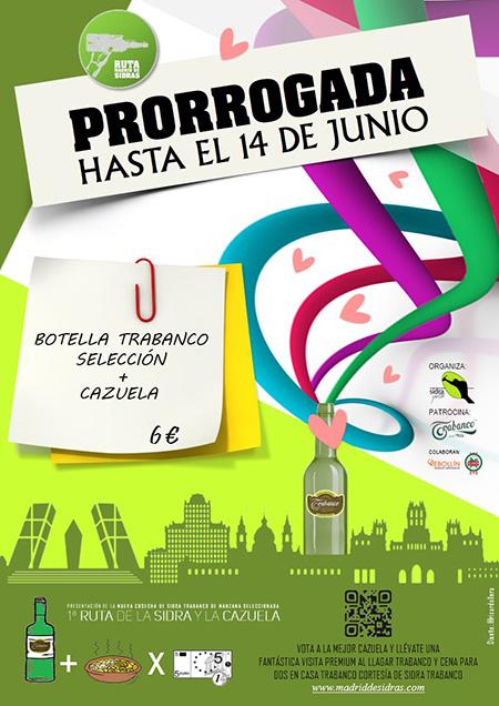 #MadridDeSidras 2015 se prorroga hasta el 14 de junio