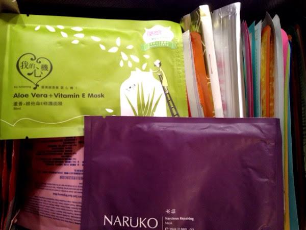 Sheet Masks Review: My Scheming Aloe Vera Vitamin E and Naruko Narcissus Repairing mask