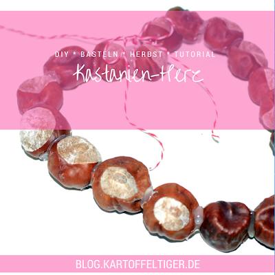 DIY * Basteln * Herbst * Tutorial * Kastanien-Herz * blog.kartoffeltiger.de