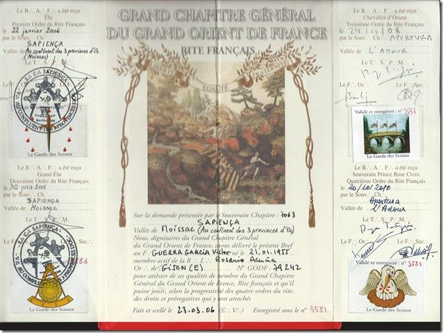 Resultado de imagen de 1ª orden de Sabiduria del Rito Frances