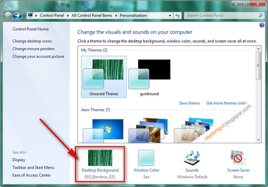 Cách thay đổi hình nền cho Desktop với Win7