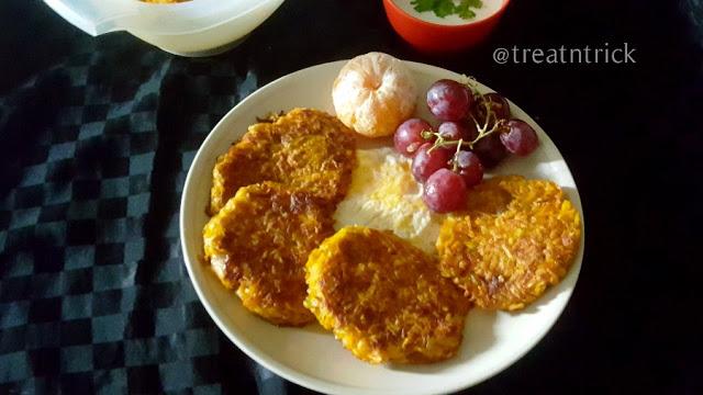 plate of pumpkin hashbrowns
