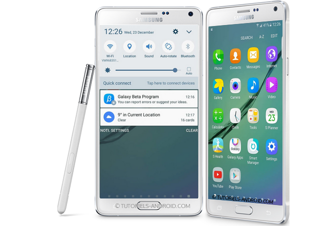 Marshmallow pour GALAXY Note 4