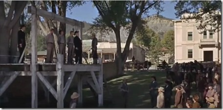 Hanging Scene, True Grit 1969 version shot in Ridgway Colorado