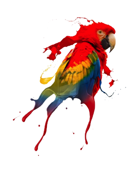 Parrot painted