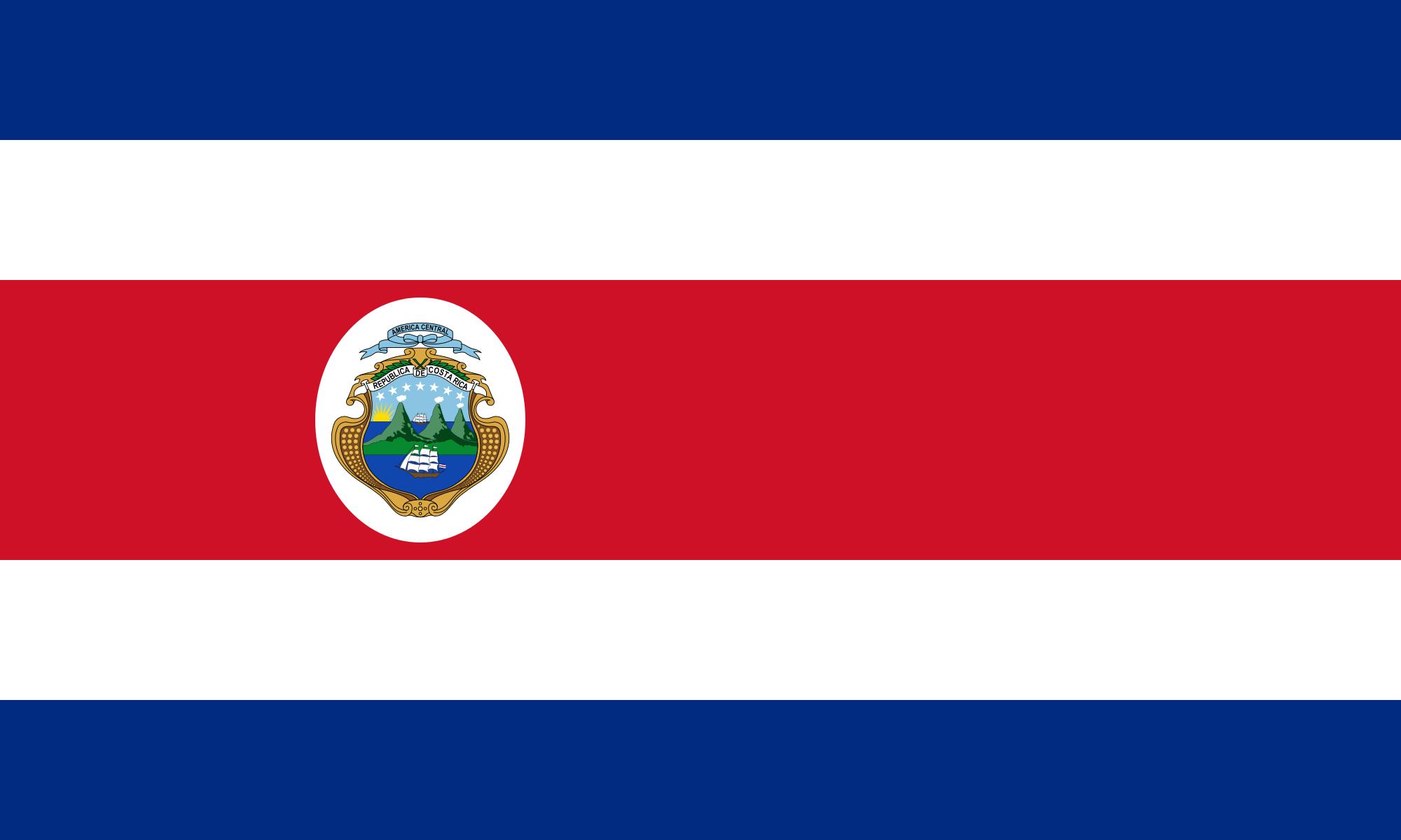 Resultado de imagen para bandera de costa rica