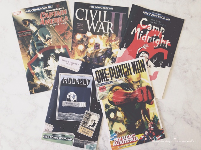 Courtney Tomesch Free Comic Book Day Haul 2016