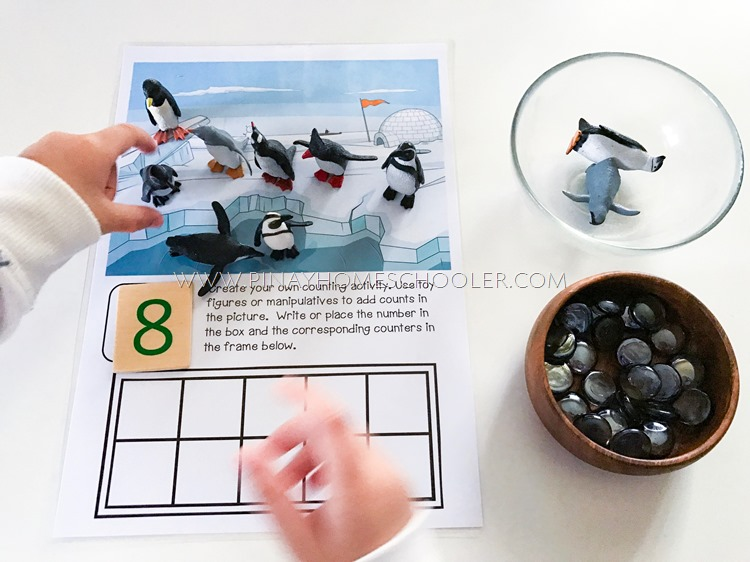 Ten Frames Counting Activities for Winter