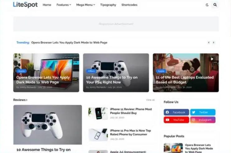 Download LiteSpot Premium Template for Free Bloggers