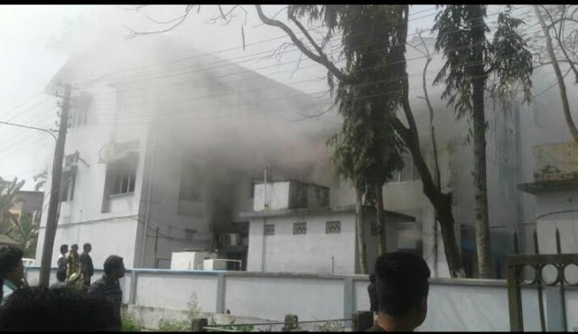 Major Fire in SBI Hailakandi Branch; Cash Vault Is Safe, Customers Need Not Panic