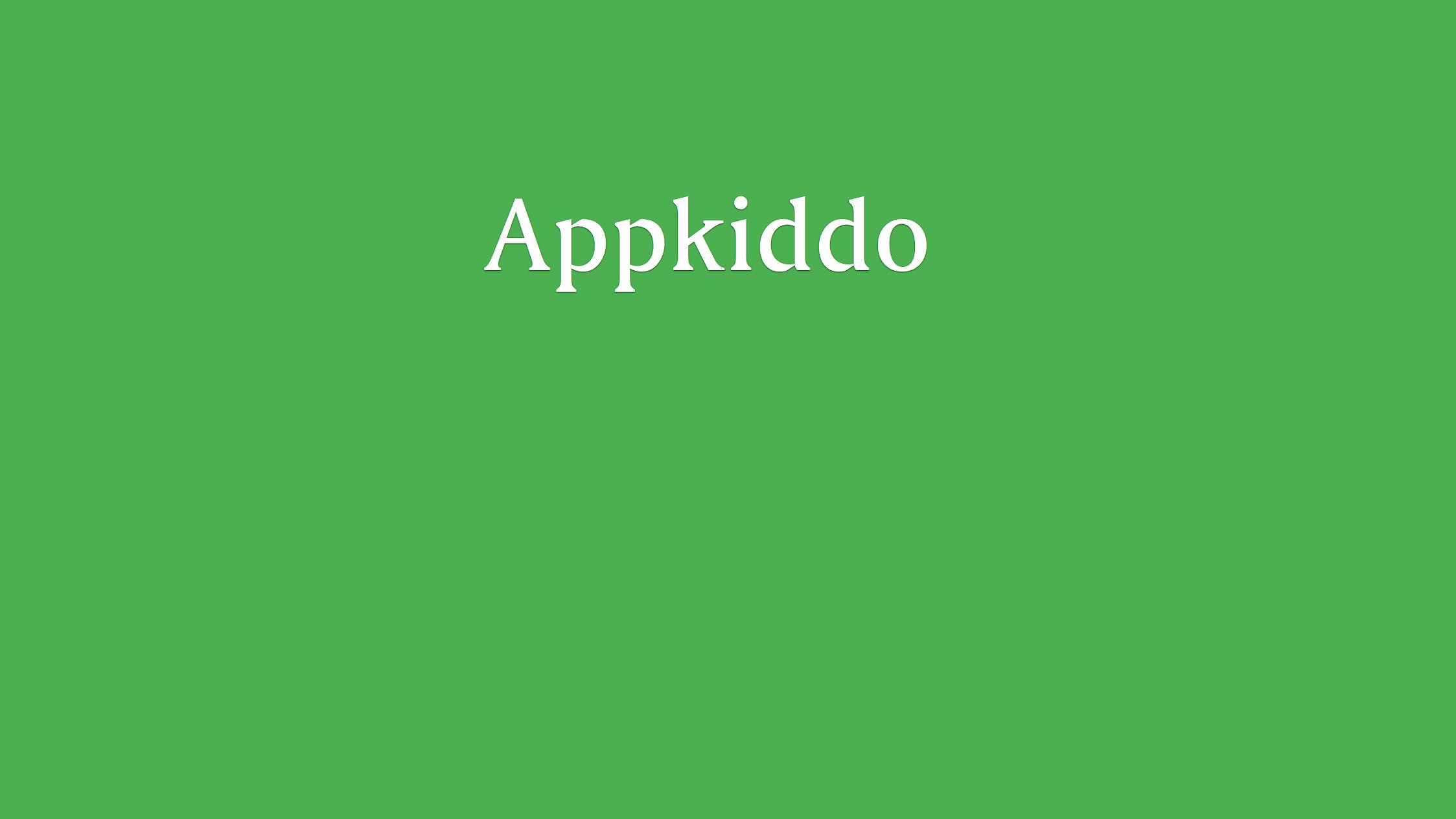 AppKiddo