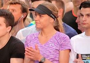 Ольга Донченко - вторая в ночном беге по Киеву на 10 км