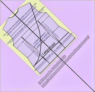 Trazo de corte cruzado sobre patrón espalda