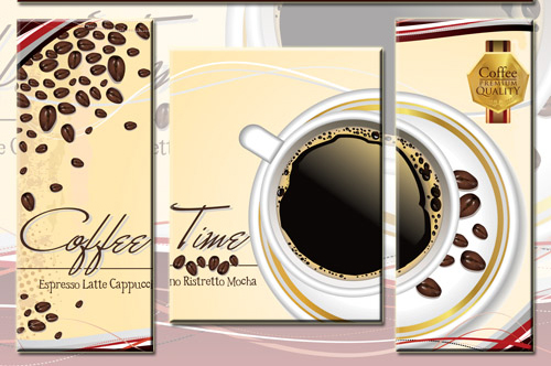Triptyches, Fourplex - Coffee elements