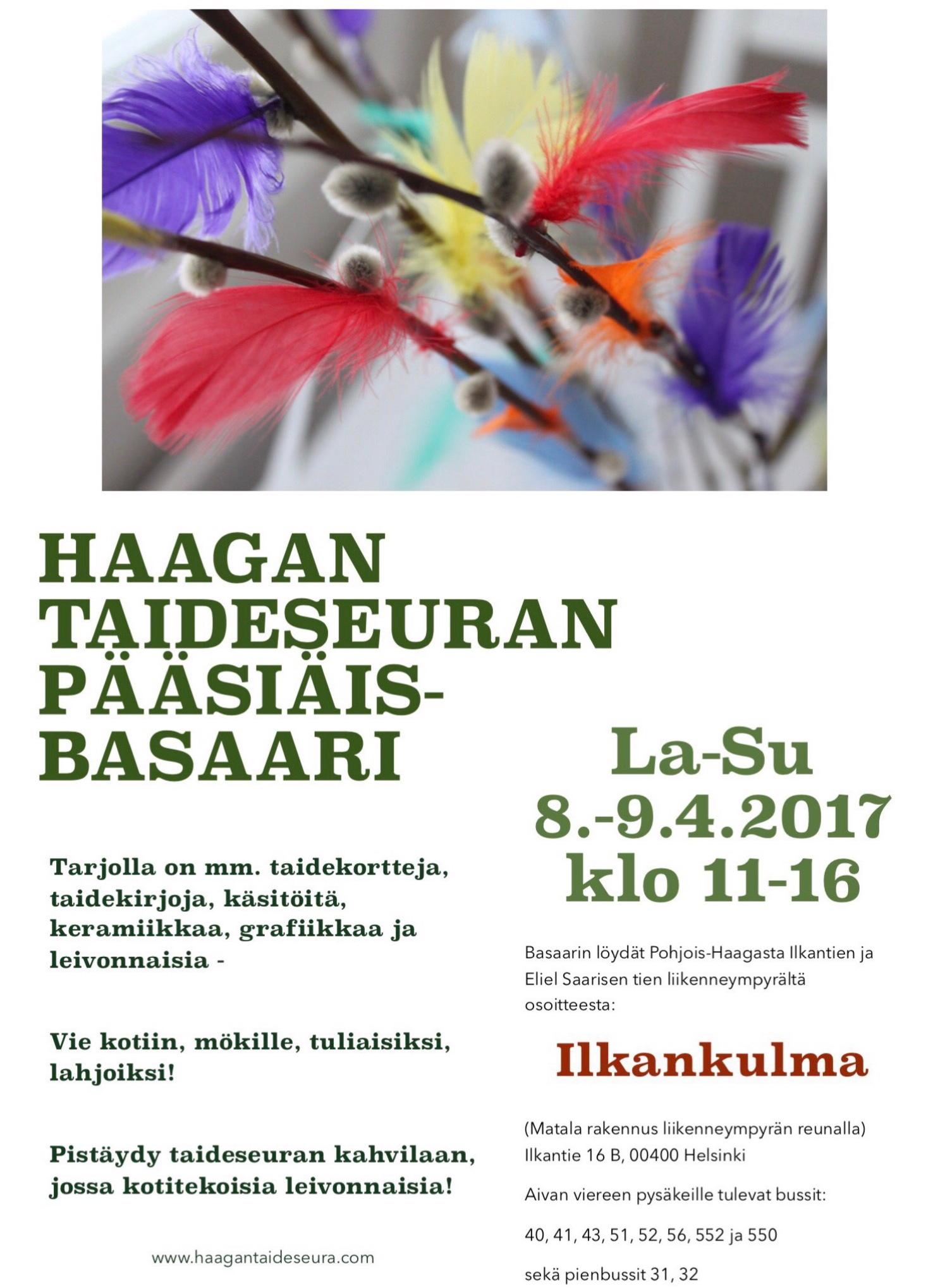Haagan Taideseuran pääsiäisbasaari 2017