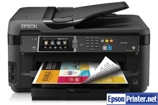 Reset Epson WorkForce WF-3510 printing device with tool